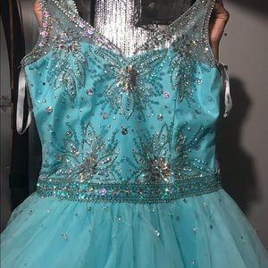 Tiffany Designs Dresses - Aqua girls pageant dress